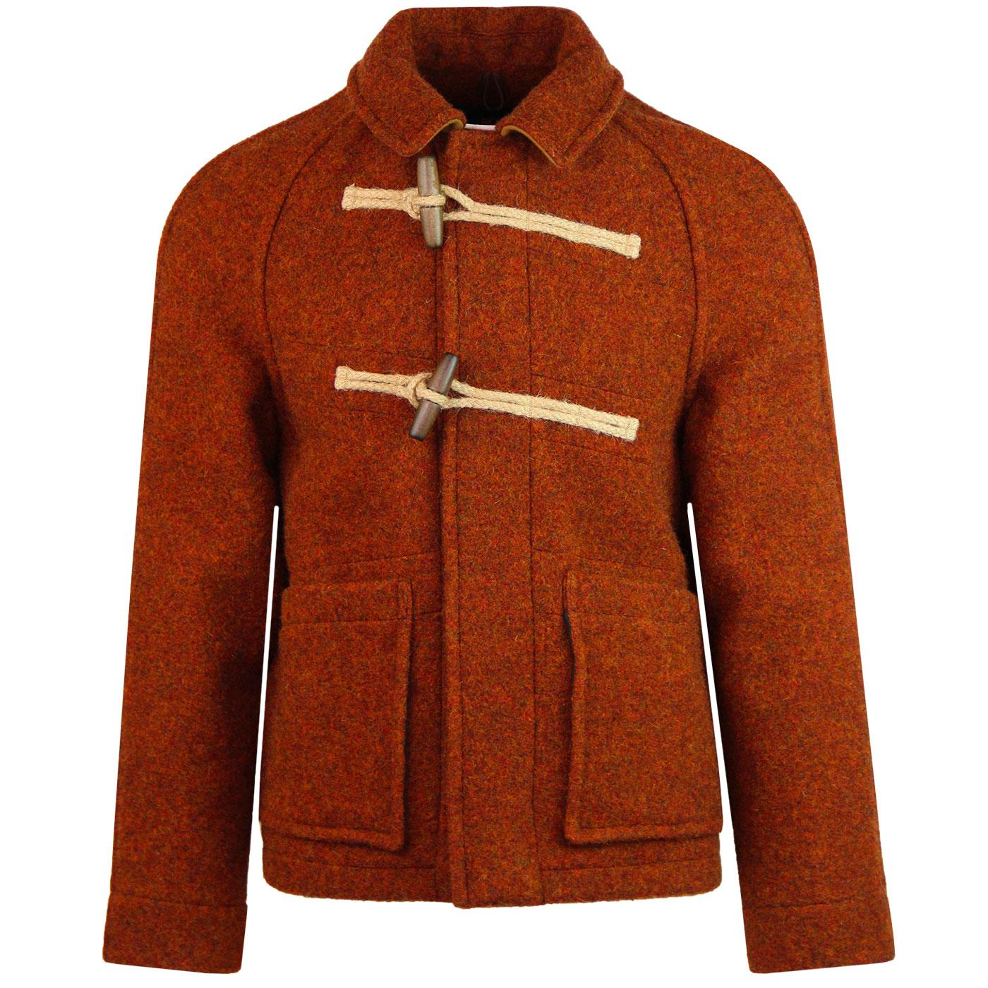 GLOVERALL 1960s Mod Whitby Deck Duffle Coat (Rust)