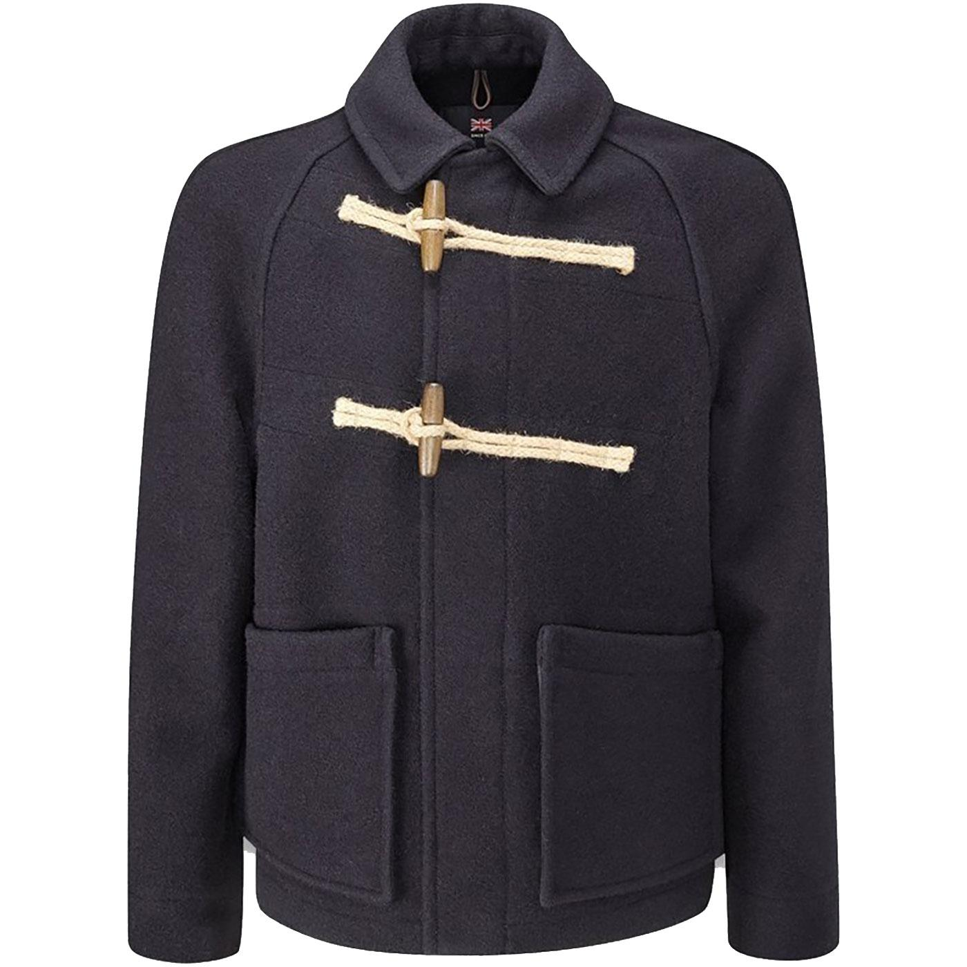 Whitby GLOVERALL Mens Mod Deck Duffle Coat (Navy)
