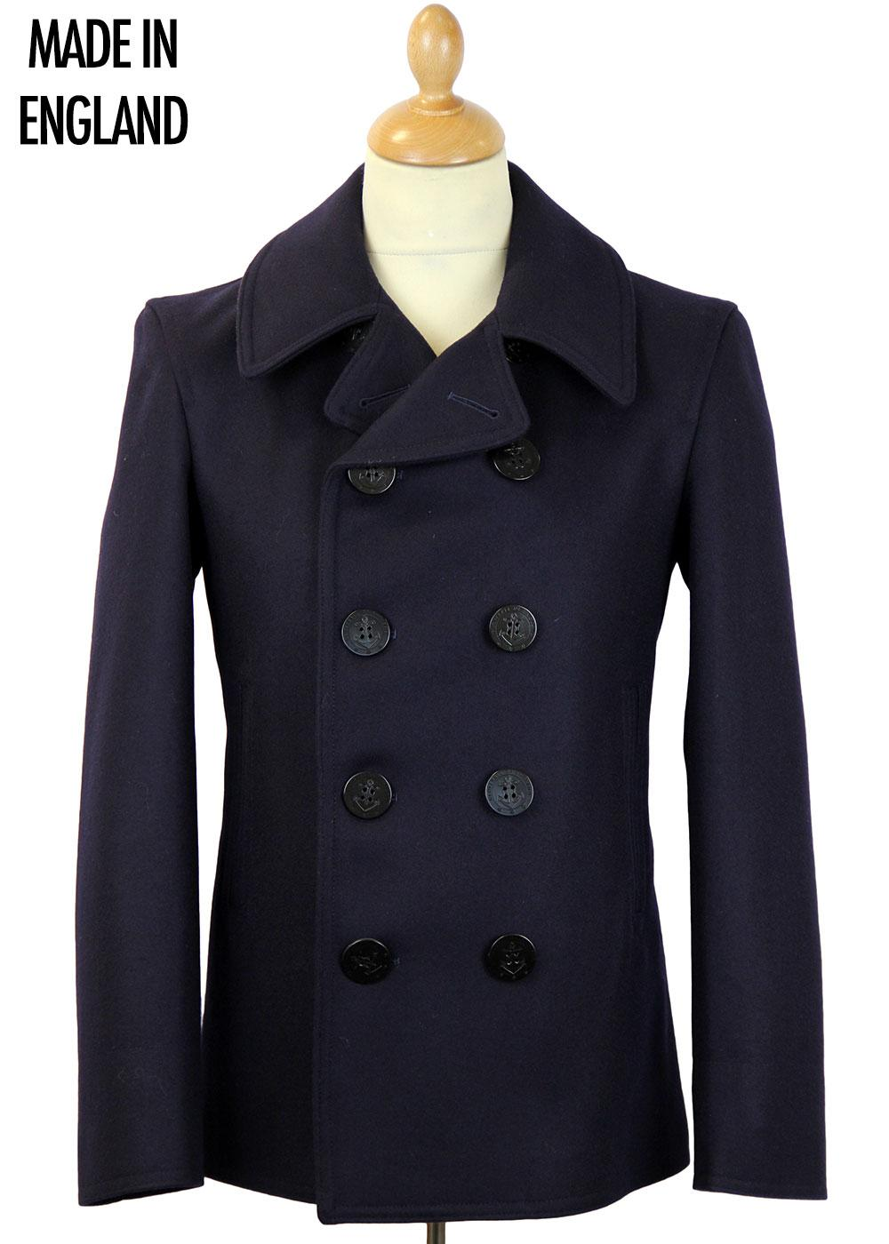 18f136856 GLOVERALL Double Breasted Contemporary Reefer Coat