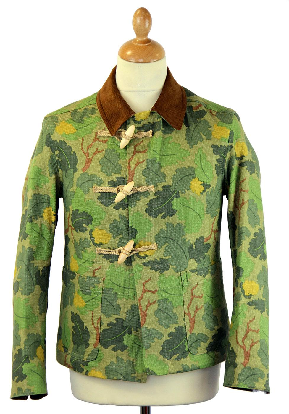 GLOVERALL 3531 Retro Mod Camo Linen Duffle Jacket