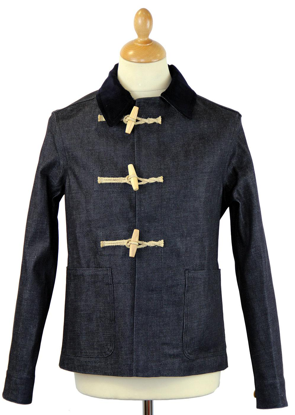 GLOVERALL 3531 Retro Mod Denim Short Duffle Jacket