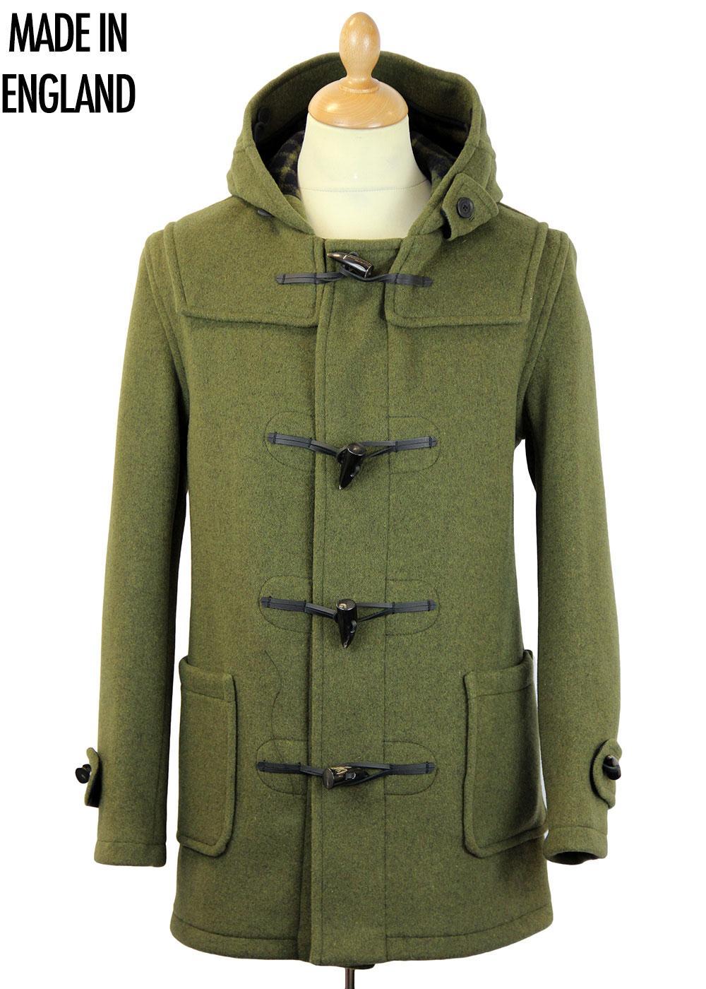 GLOVERALL Retro Checkback Mid Length Duffle Coat K