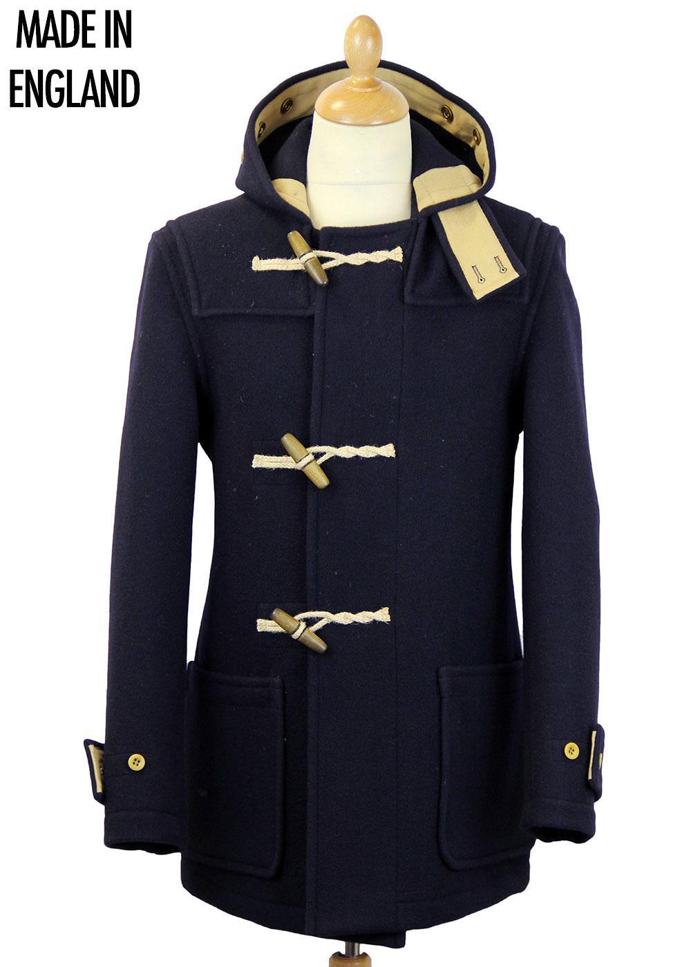 GLOVERALL Retro Mid Length Monty Duffle Coat NAVY