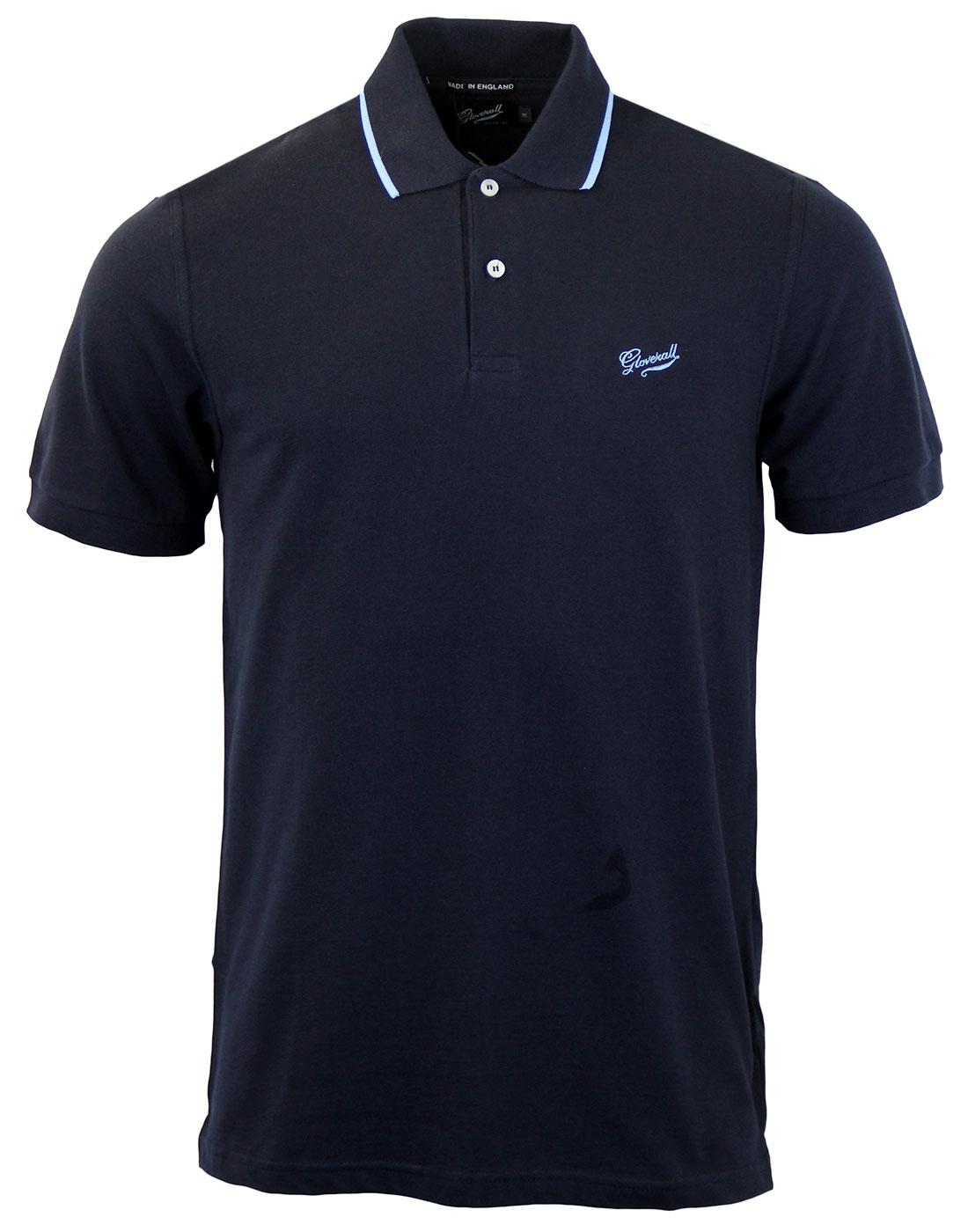 GLOVERALL Made In England Mod Pique Polo Shirt (N)