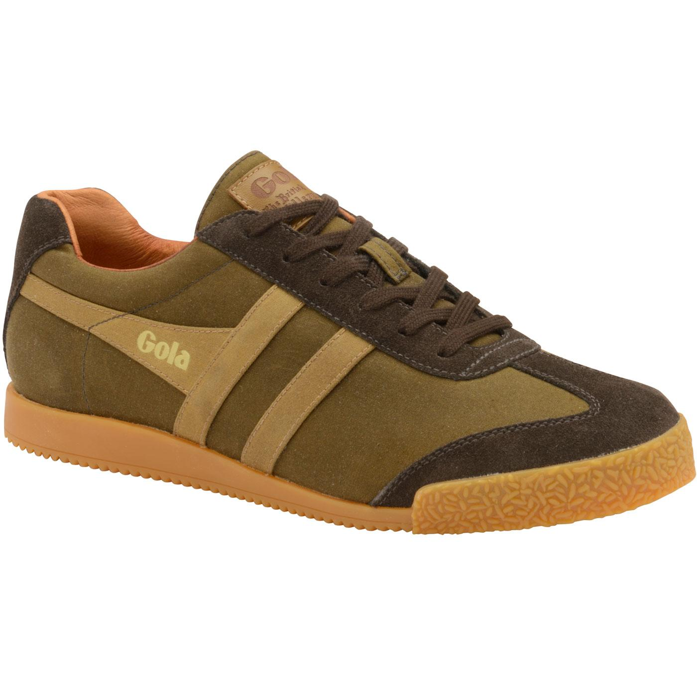 Harrier Millerain GOLA Retro Trainers OLIVE/BROWN