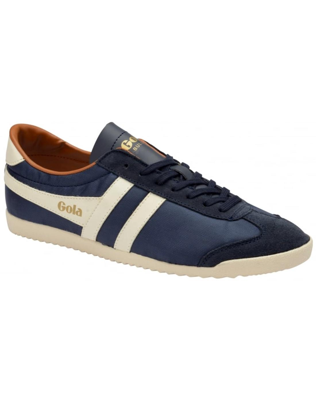 Bullet Nylon GOLA Mens Retro 70s Trainers in Navy