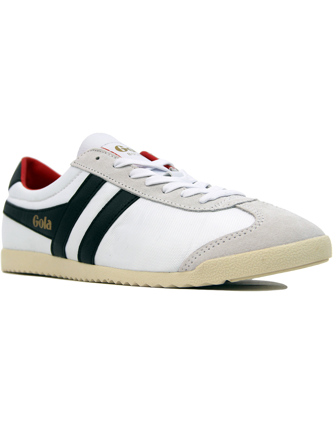 GOLA Bullet Nylon Mens Retro 70s Trainers WHITE