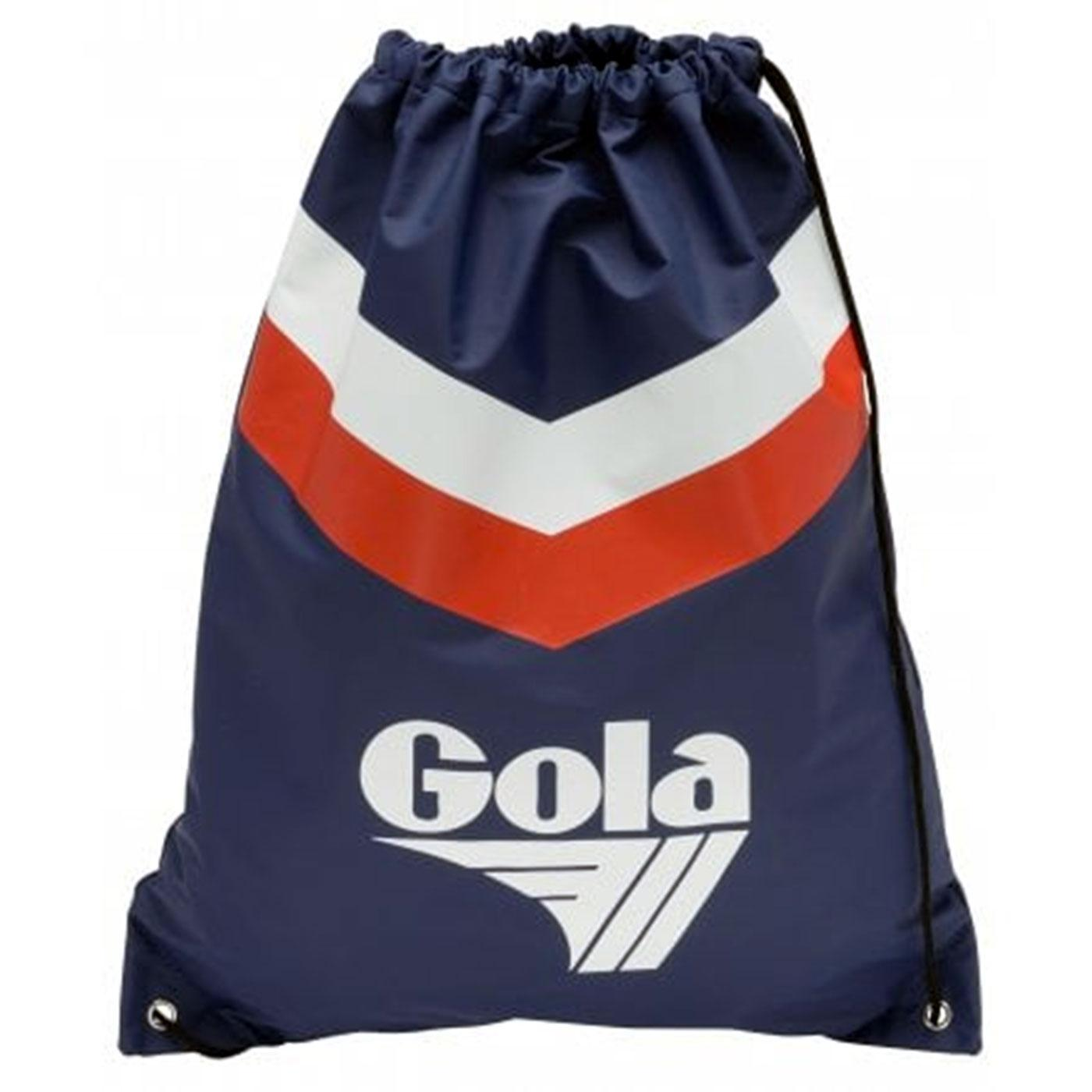 Hicks GOLA Chevron Retro 1970s Duffle Bag (Navy)