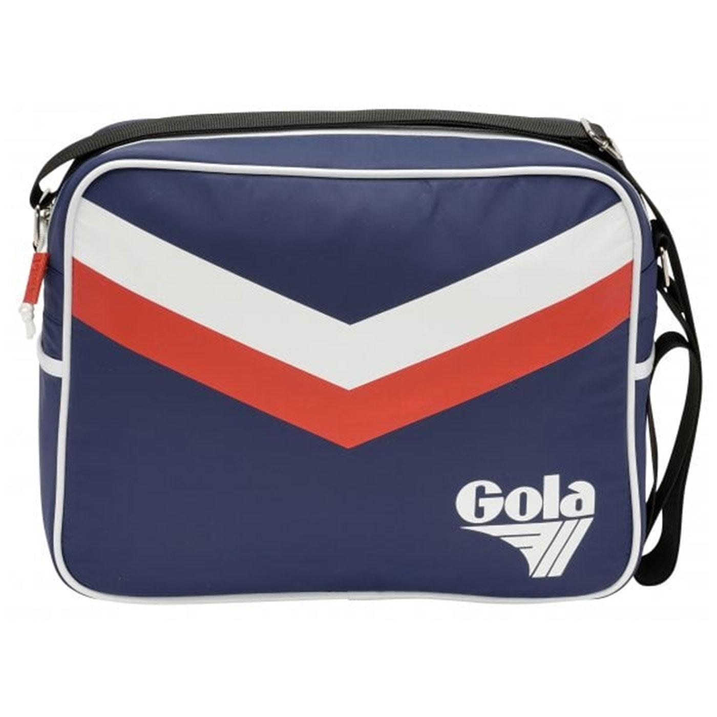Redford Chevron GOLA Retro 1970s Flight Bag (Navy)