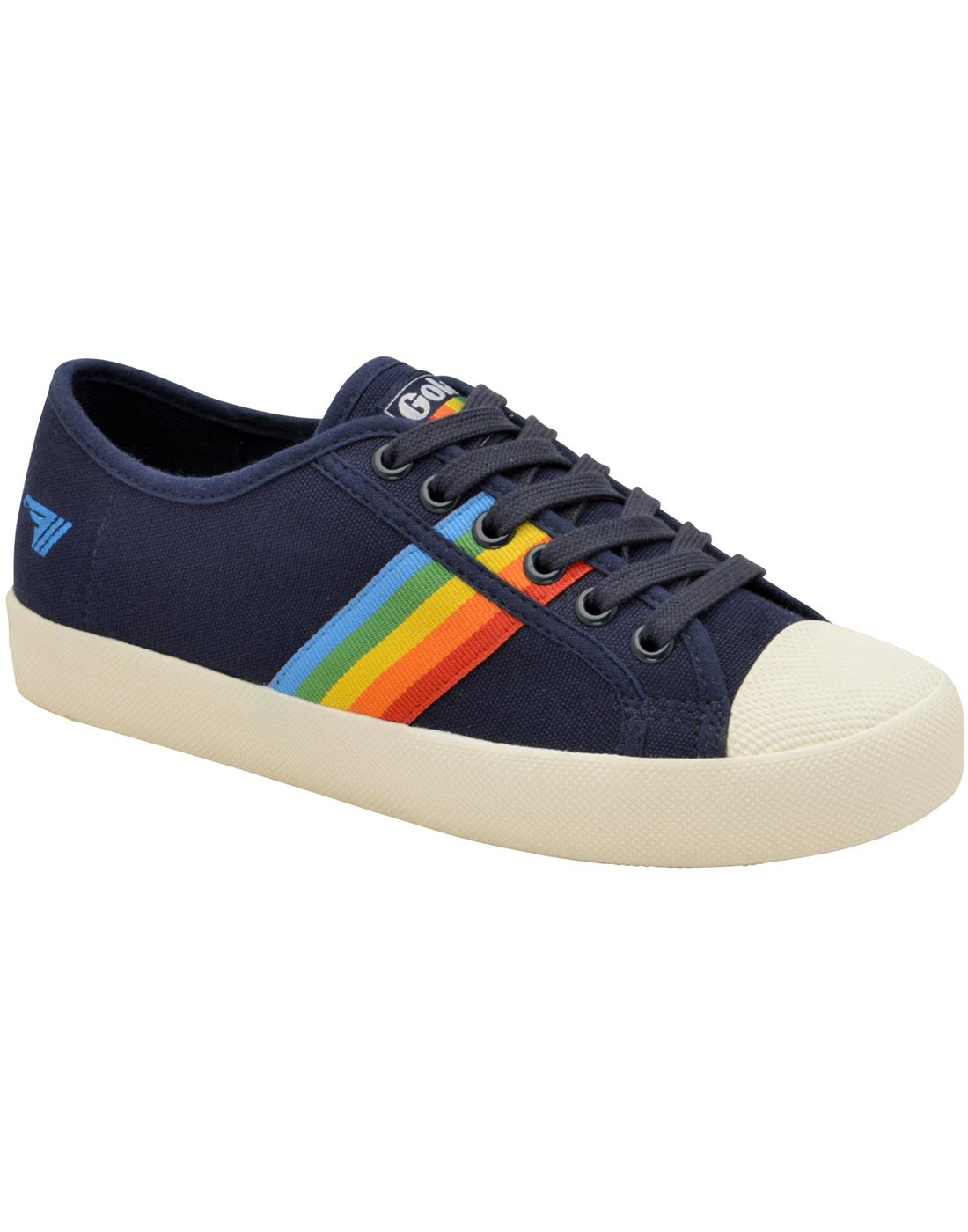 Coaster Rainbow GOLA Retro 90s Canvas Trainers N