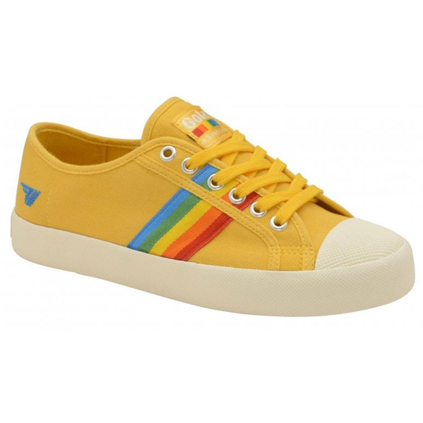 Coaster Rainbow GOLA Retro 70s Canvas Trainers SUN