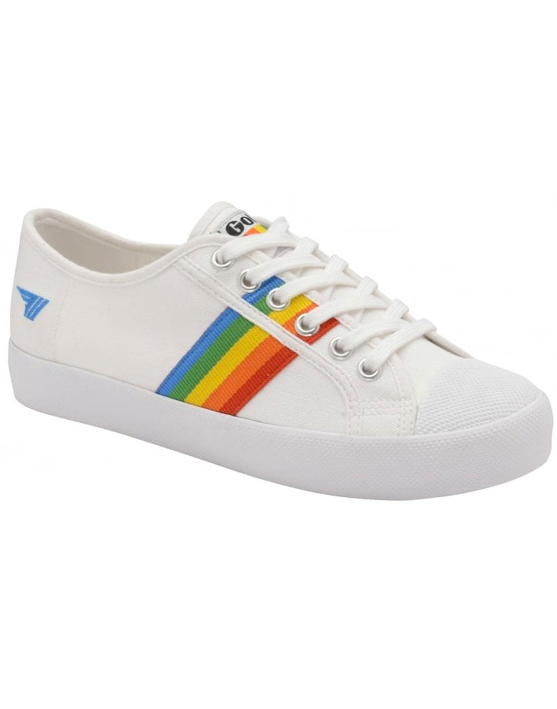 Coaster Rainbow GOLA Retro 1990s Canvas Trainers W