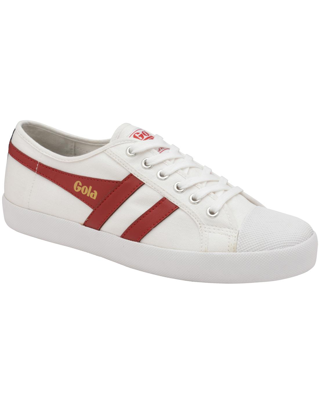Coaster GOLA Mens Retro 70s Canvas Trainers (WRN)