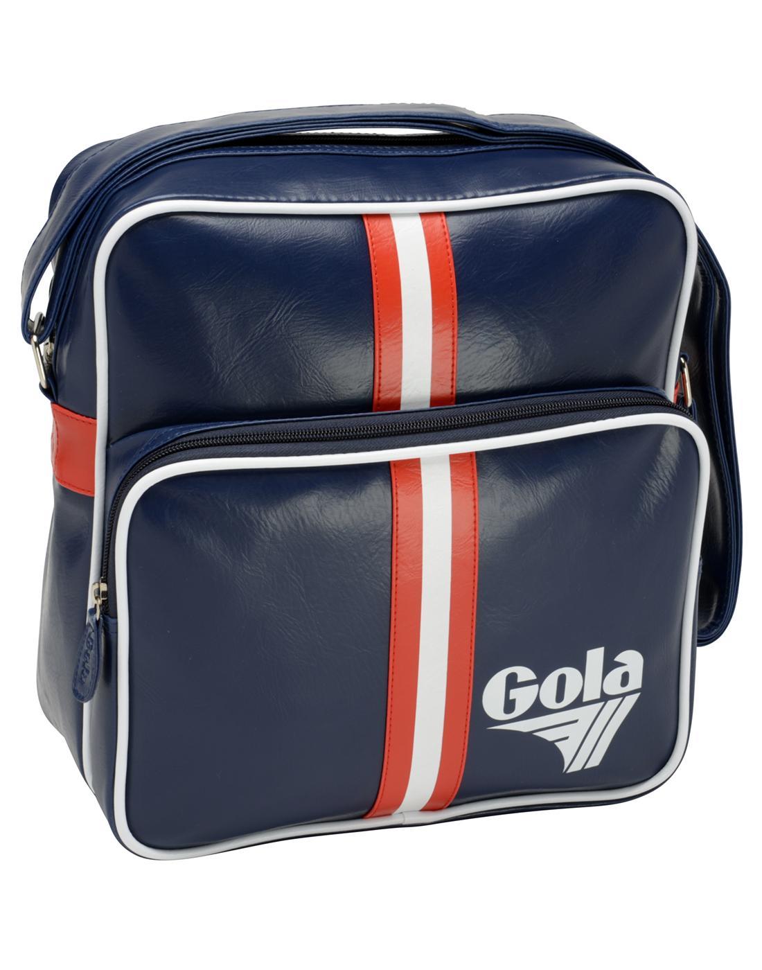 Gable GOLA 70s Retro Stripe Messenger Flight Bag