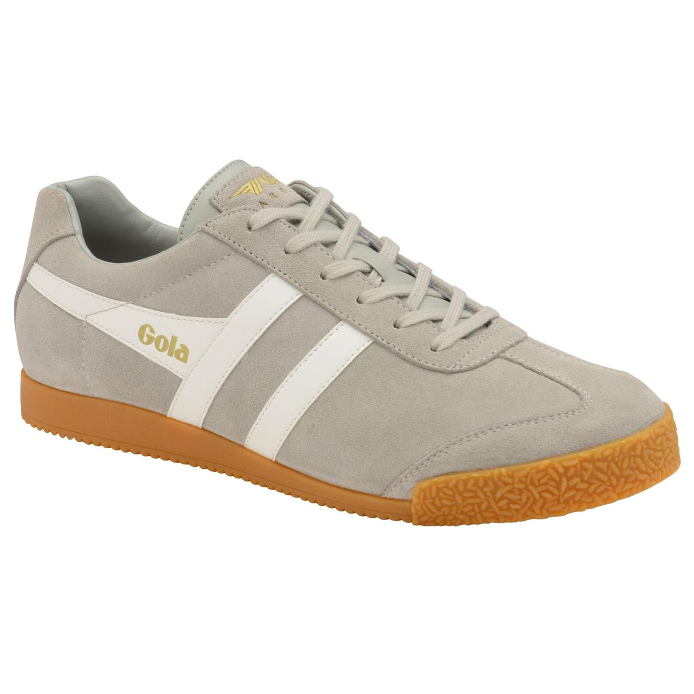 GOLA Harrier Suede Mens Retro Trainers Light Grey