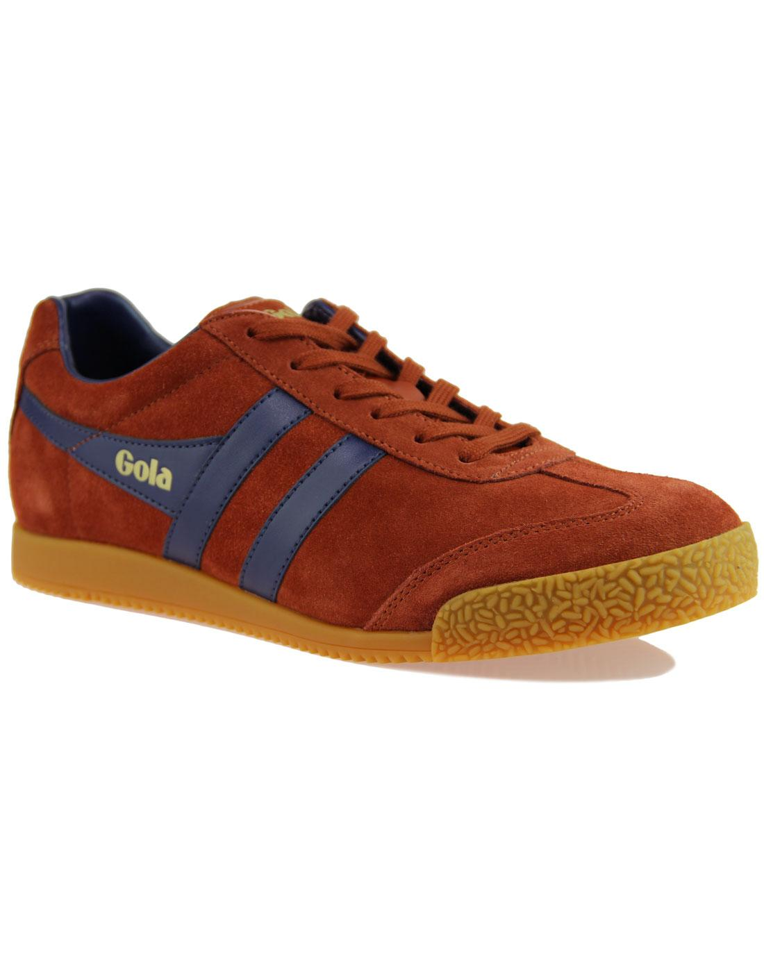 GOLA Harrier Suede Mens Retro 1970s Trainers (R/N)