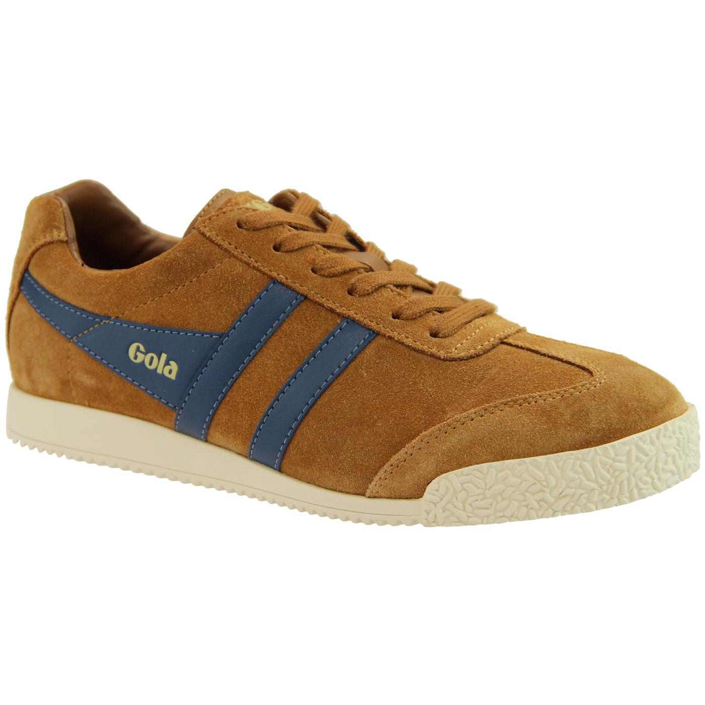 GOLA Harrier Suede Womens Retro 70s Trainers (C/B)