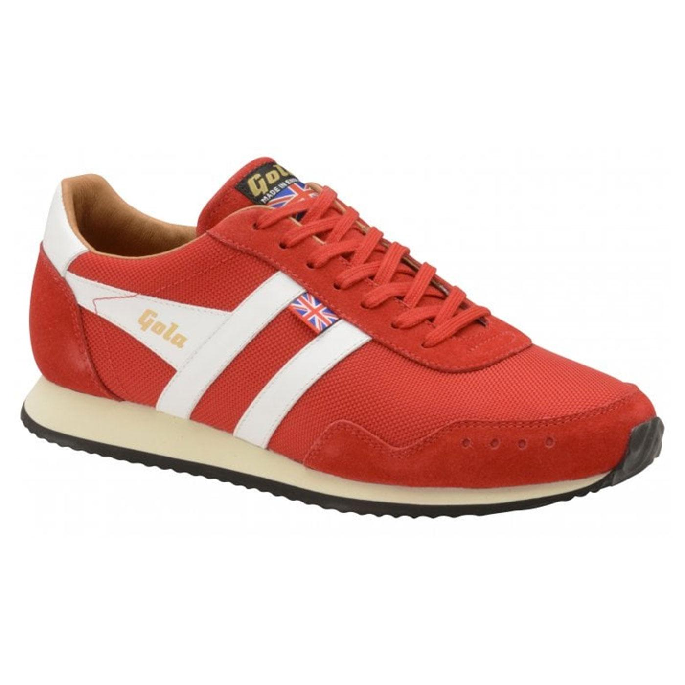 Track Mesh GOLA Made in England Retro Trainers RED