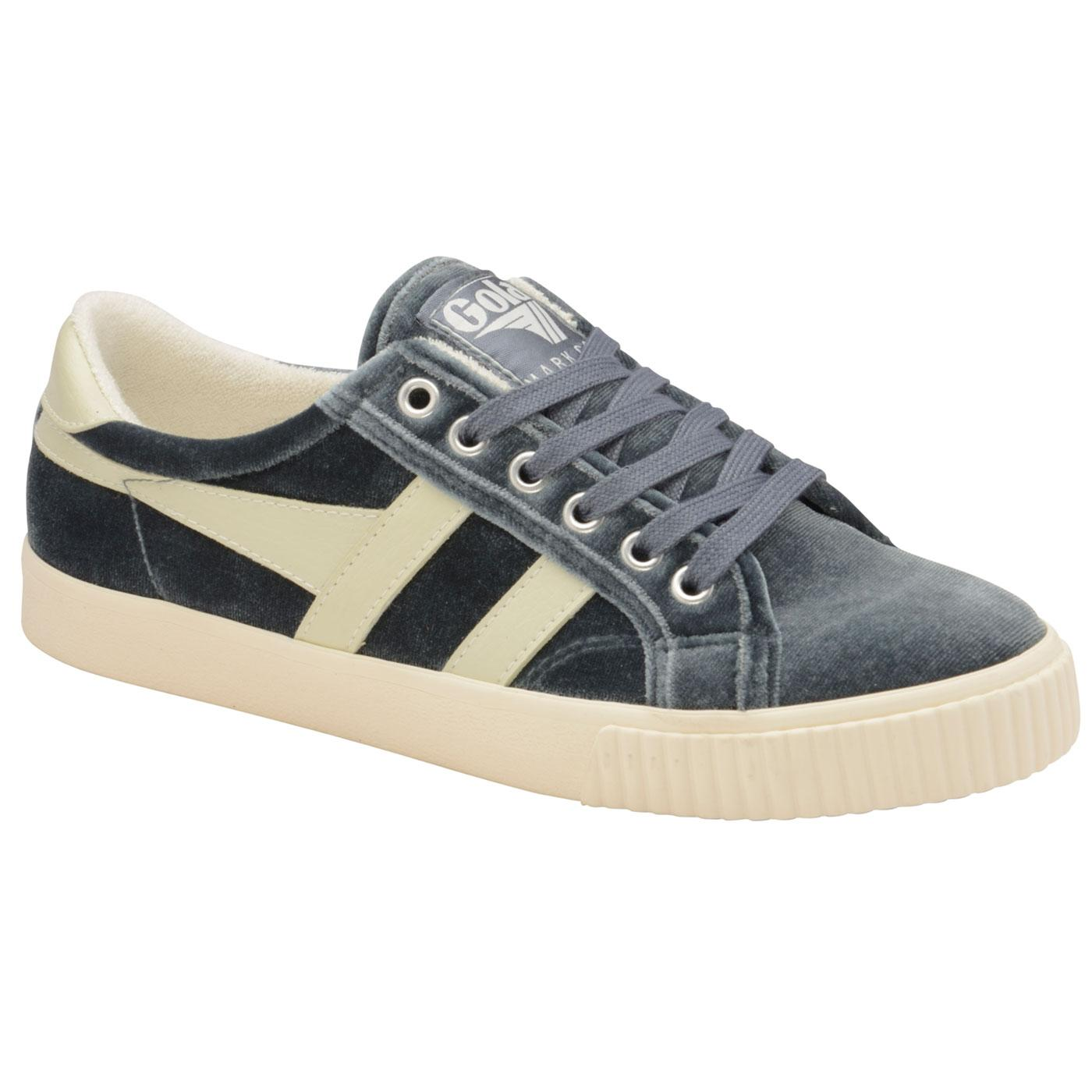 GOLA Mark Cox Womens Velvet Tennis Trainers (S/OW)