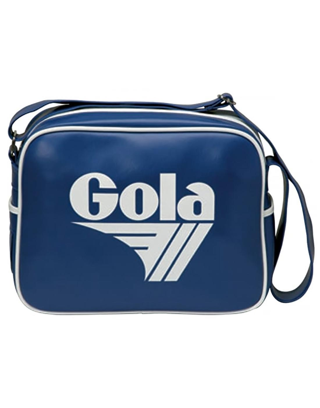 GOLA Redford Retro 70s Shoulder Bag in Reflex Blue