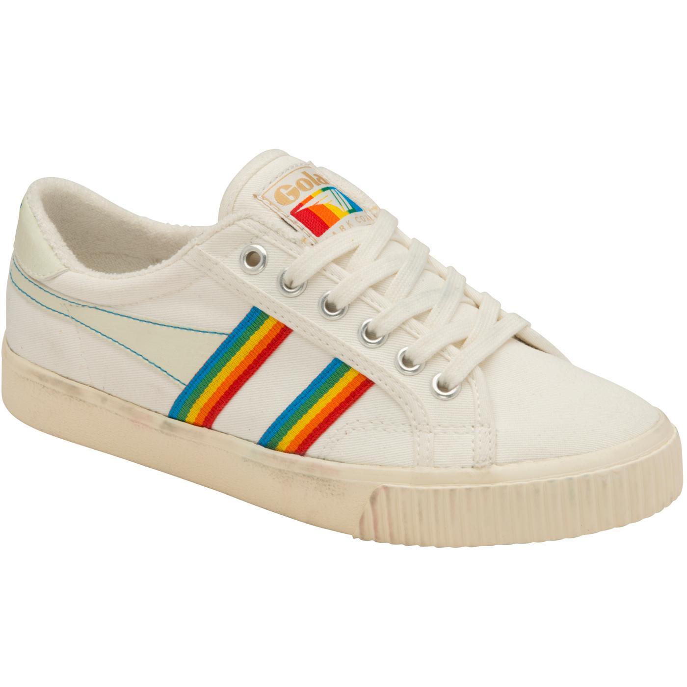 Tennis Mark Cox Rainbow GOLA Retro Canvas Trainers
