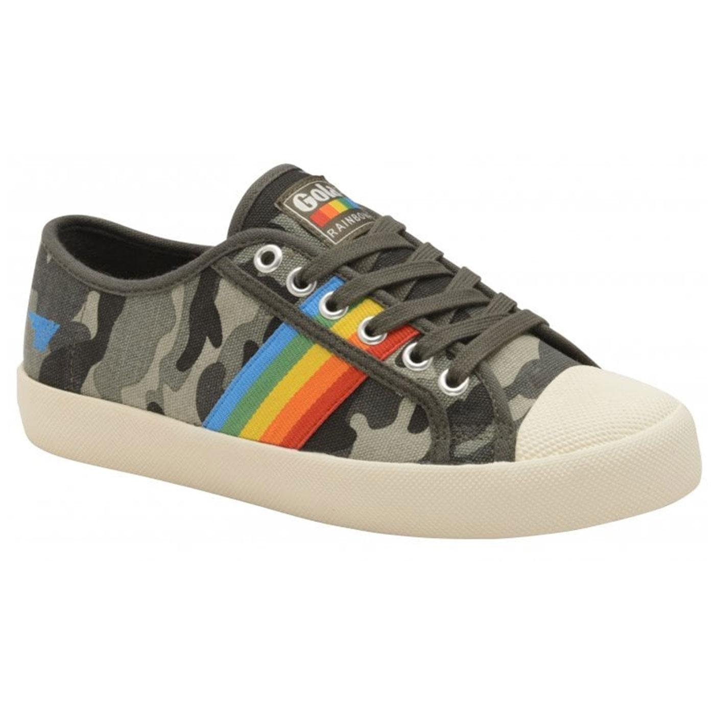 Coaster Rainbow Camo GOLA Retro 1990s Trainers