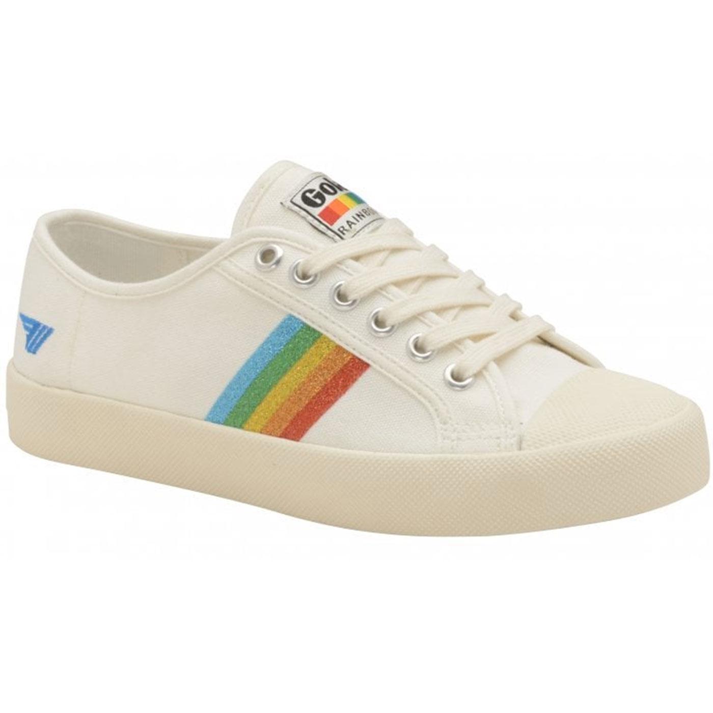 Coaster Rainbow Glitter GOLA Retro 90s Trainers OW