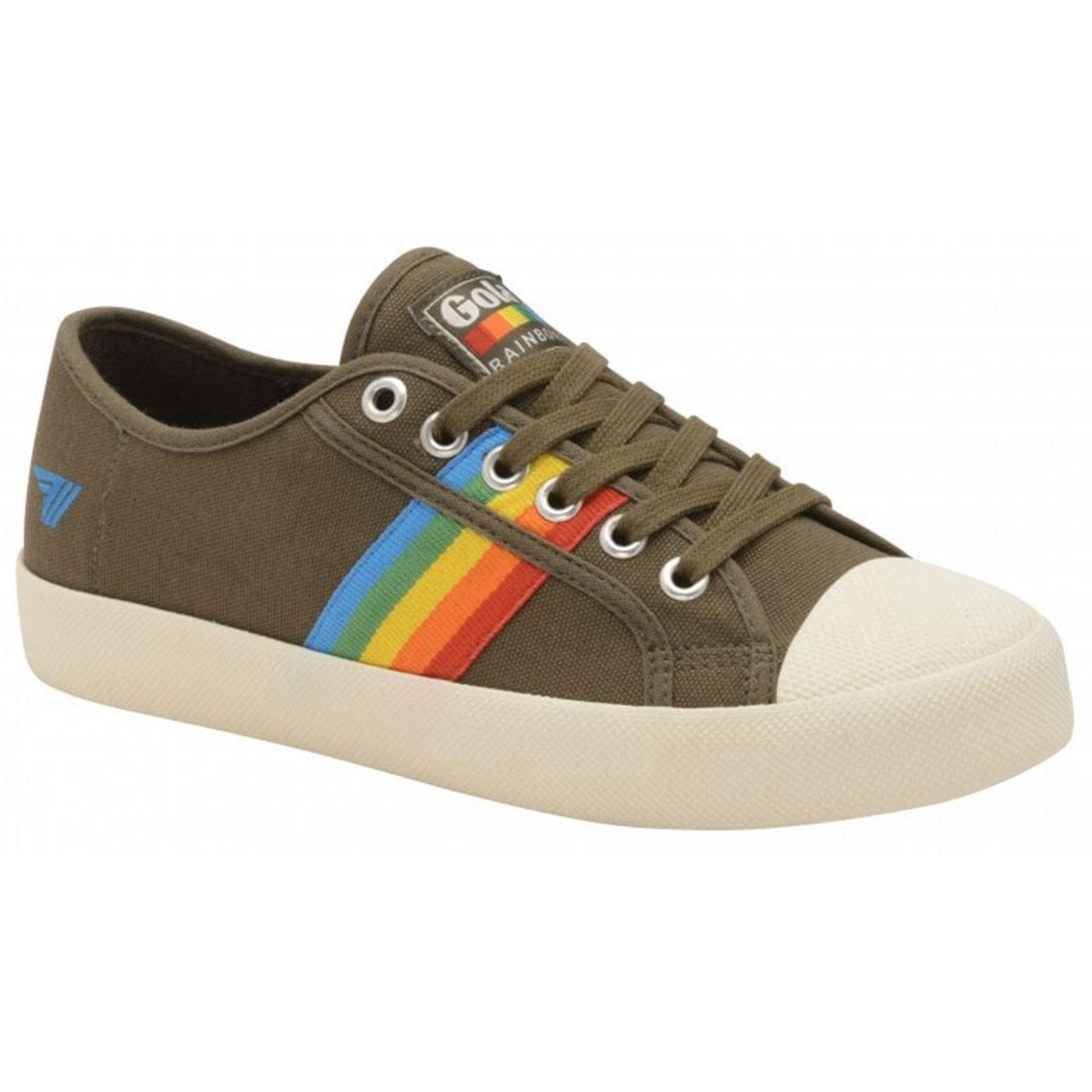 Coaster Rainbow GOLA Retro 90s Canvas Trainers (K)