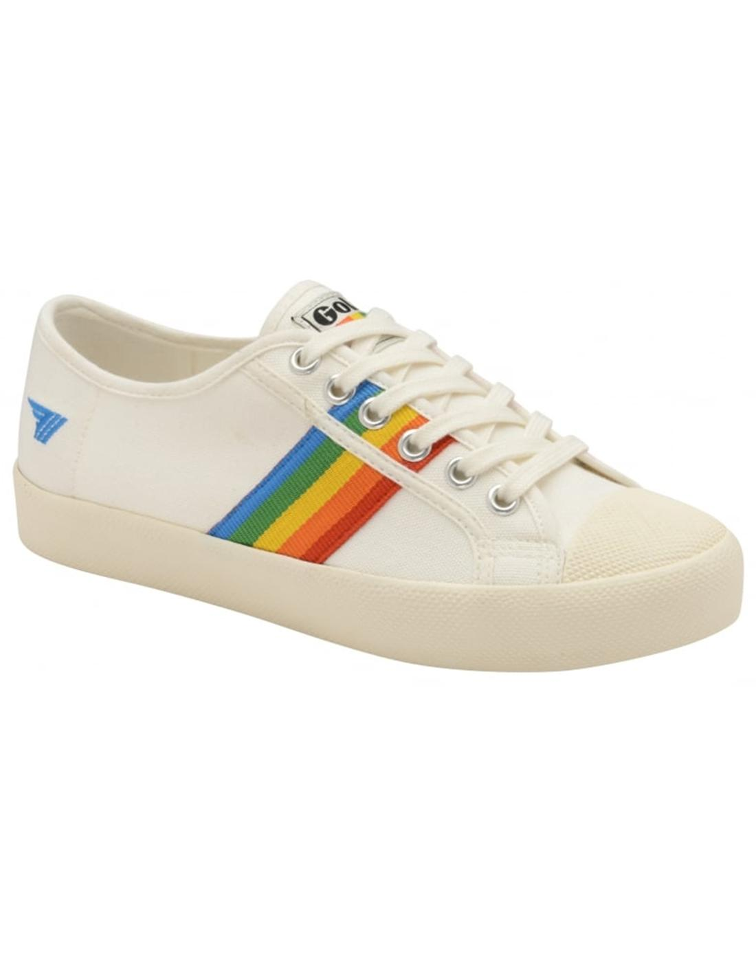 Coaster Rainbow GOLA Retro 90s Canvas Trainers OW