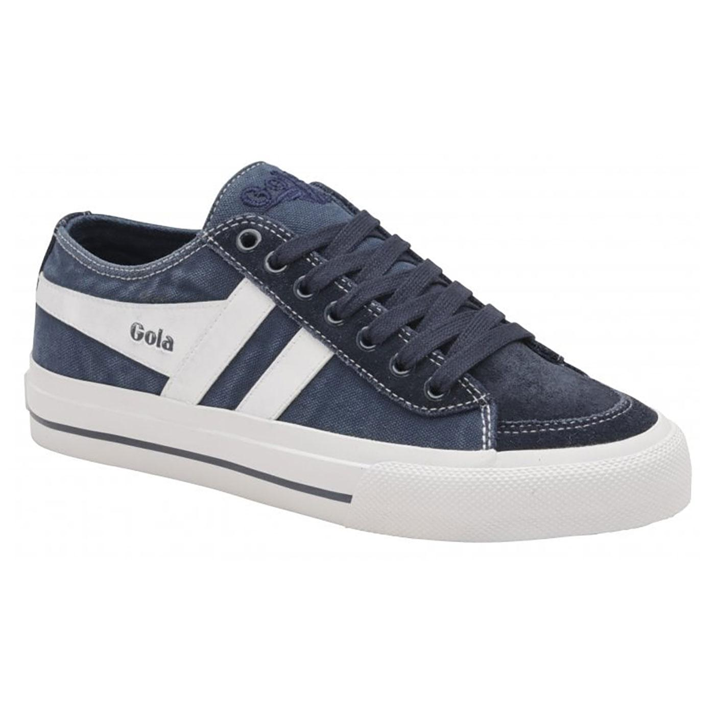 Quota II GOLA Womens 70s Washed Canvas Trainers N