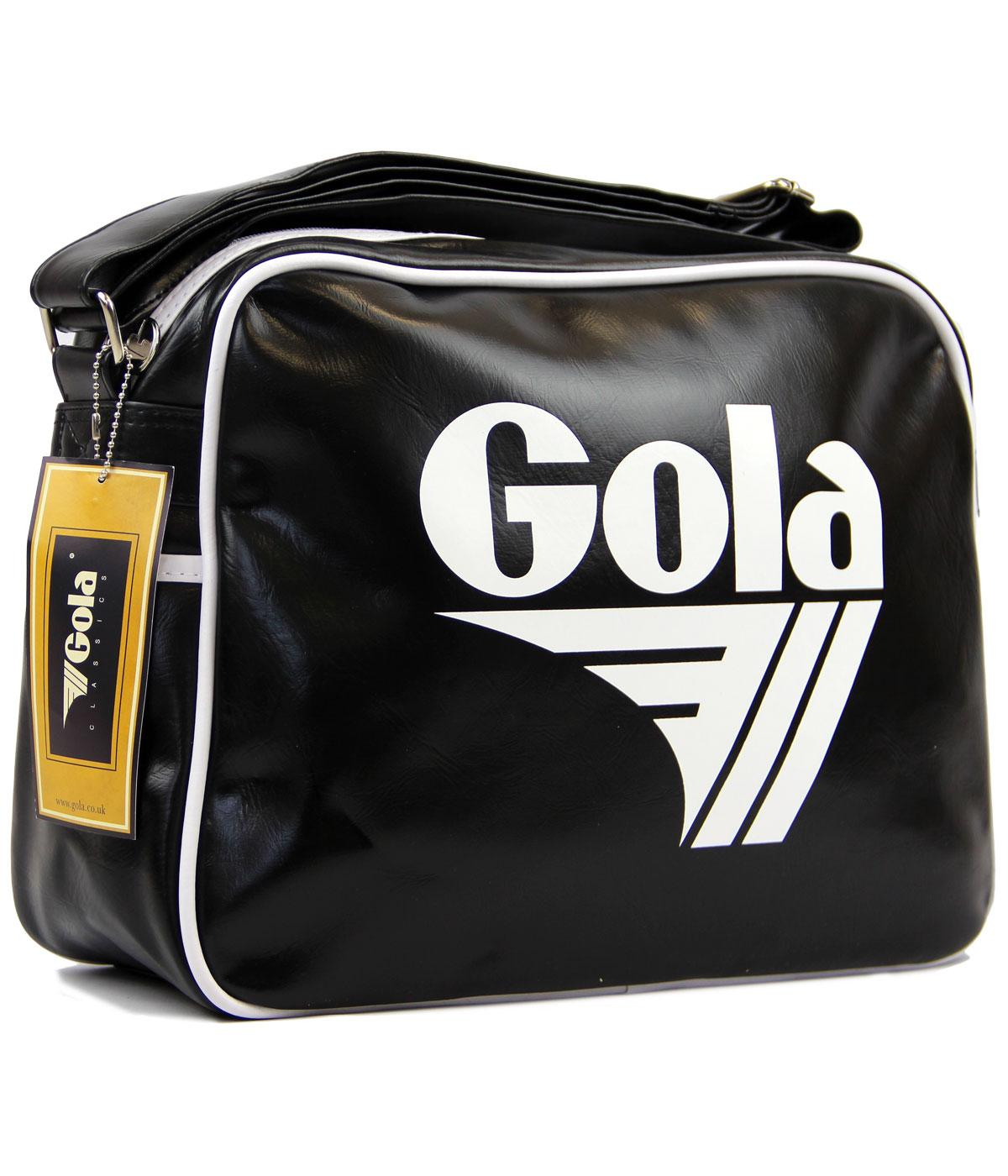 GOLA Redford Retro 70s Sports Shoulder Bag BLK/WHT