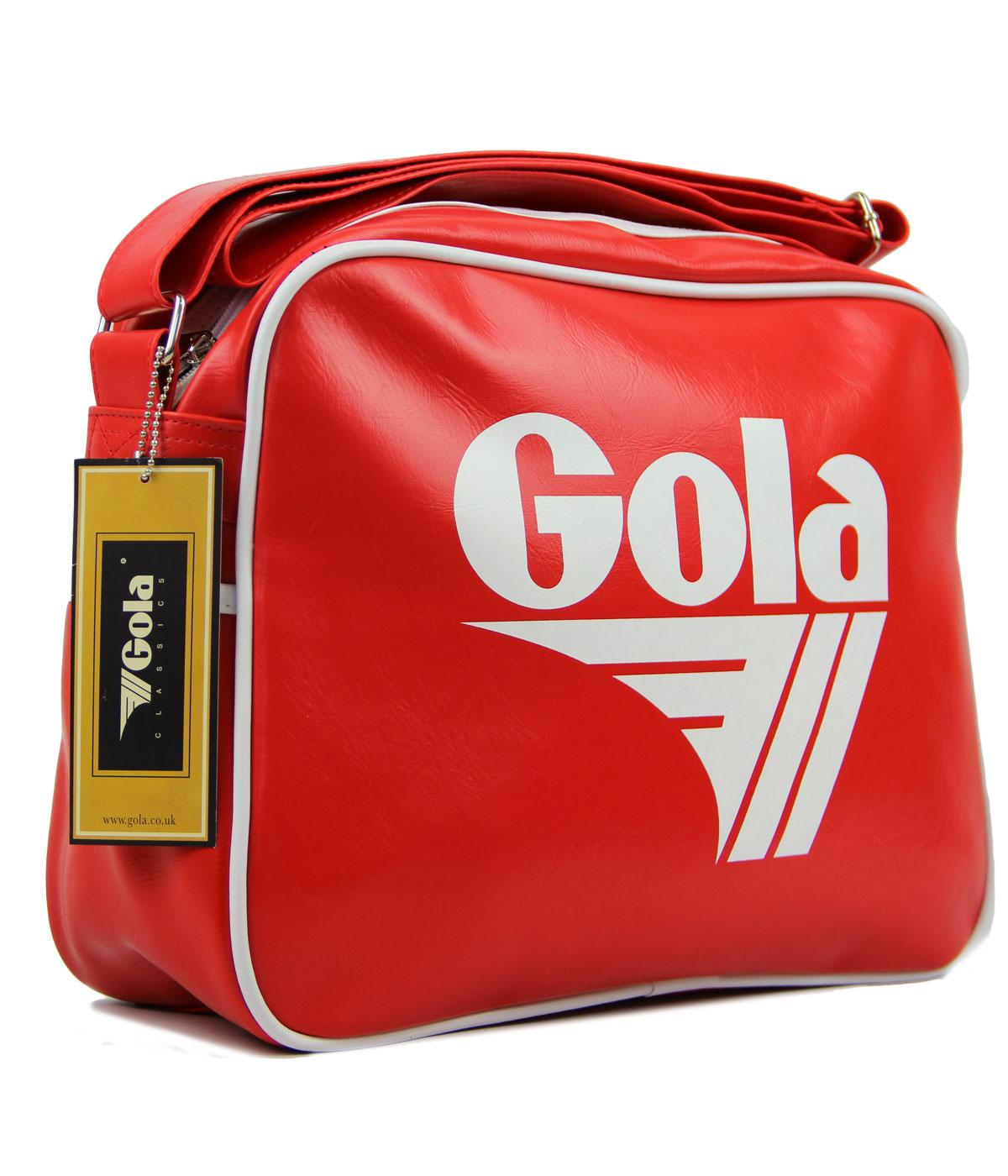 GOLA Redford Retro 70s Sports Shoulder Bag RED/WHT