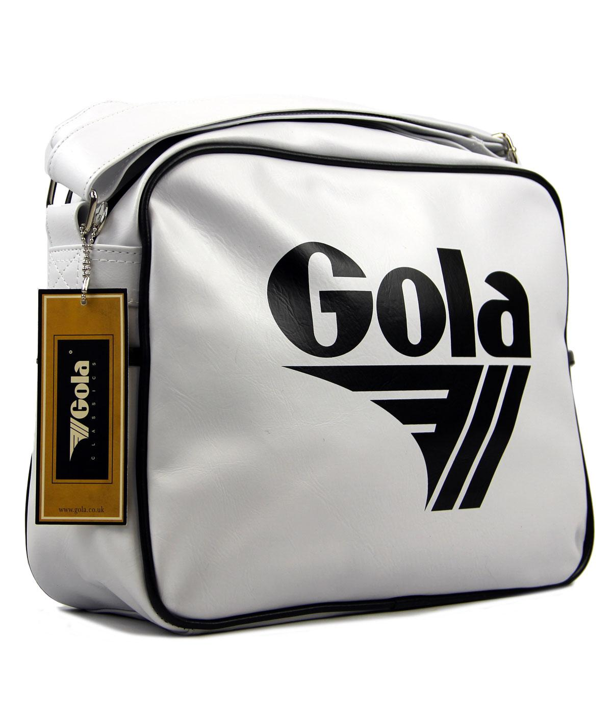 GOLA Redford Retro 70s Sports Shoulder Bag WHT/BLK