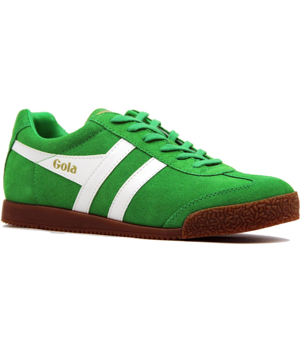 GOLA Harrier Premium Suede Retro Indie Trainers in Green 06e29dd09890
