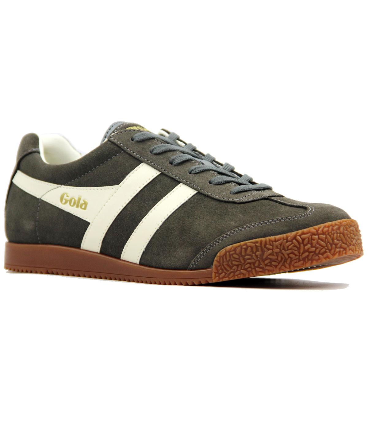 GOLA Harrier Premium Suede Retro Trainers (D GREY)