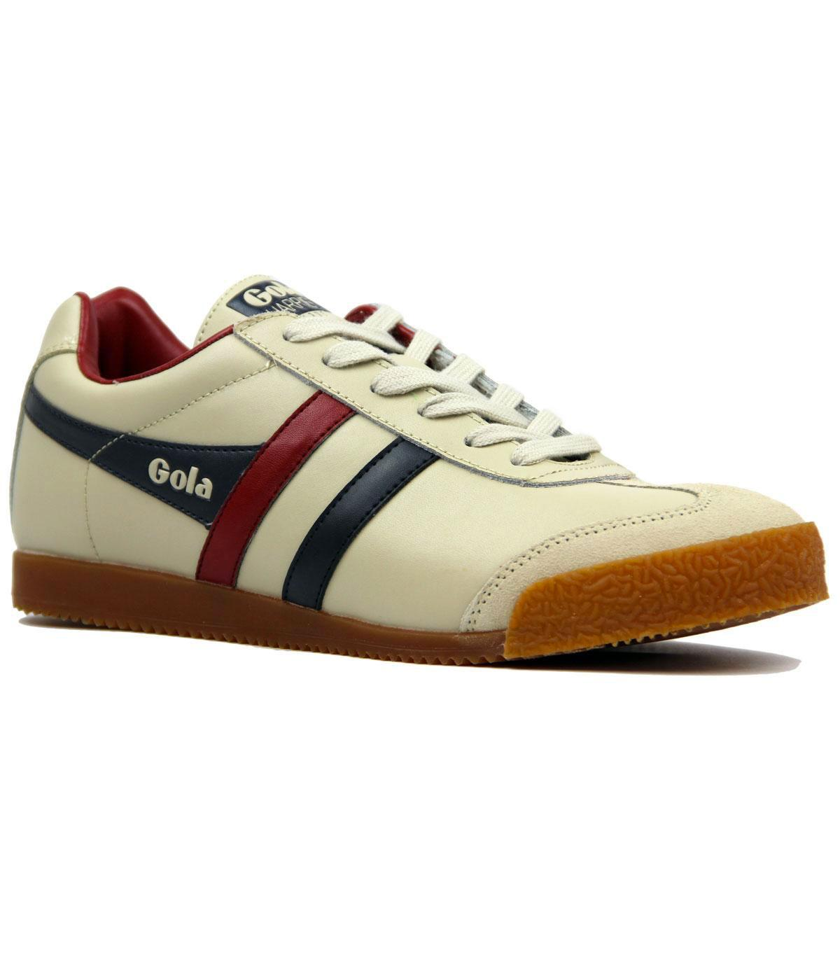 GOLA Harrier Leather Retro 70s Indie Trainers ECRU