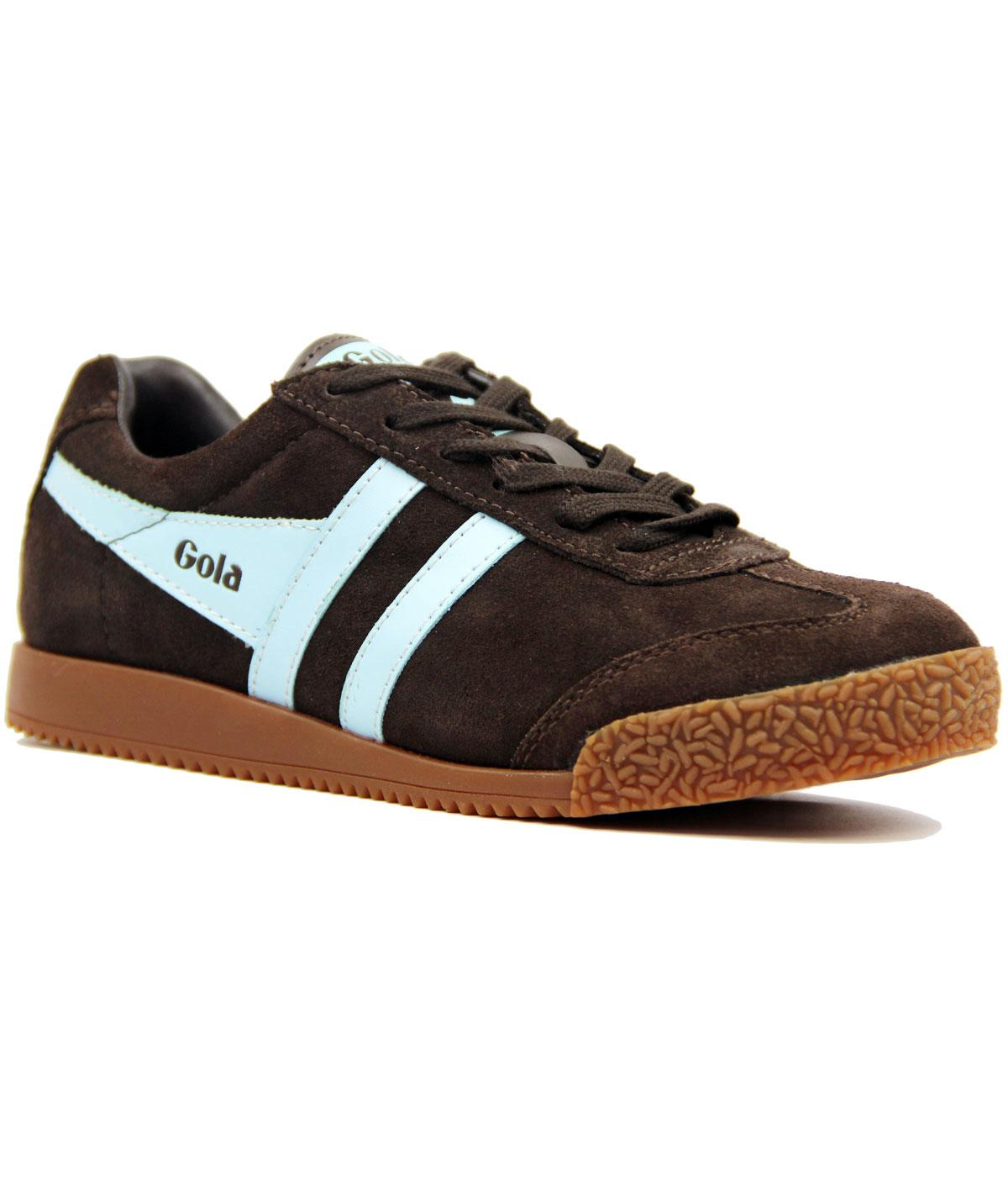GOLA Harrier Womens Retro 70s Suede Trainers BROWN