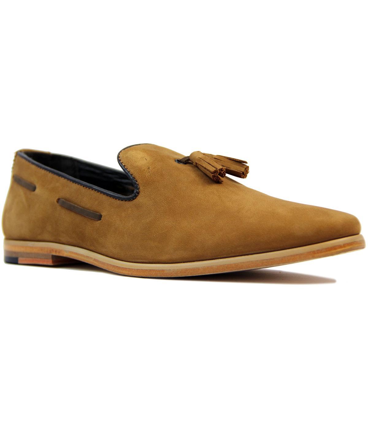 Harry GOODWIN SMITH 60s Mod Nubuck Tassel Loafers