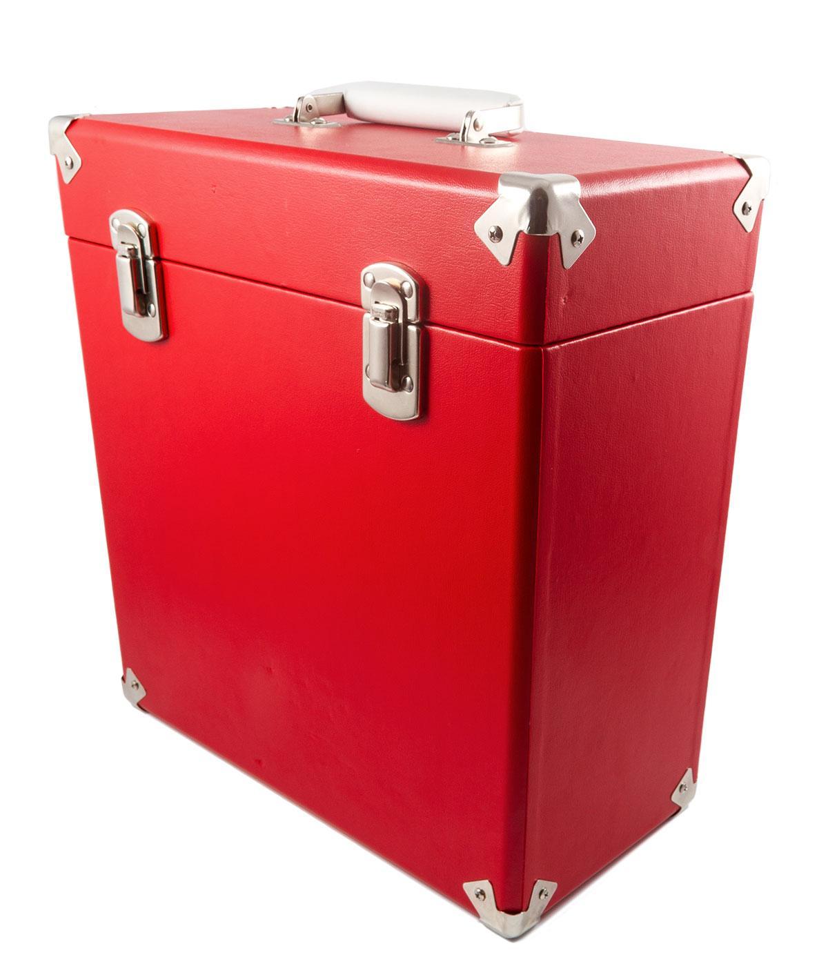 GPO Retro Vinyl Case | 60s Mod LP Record Box RED