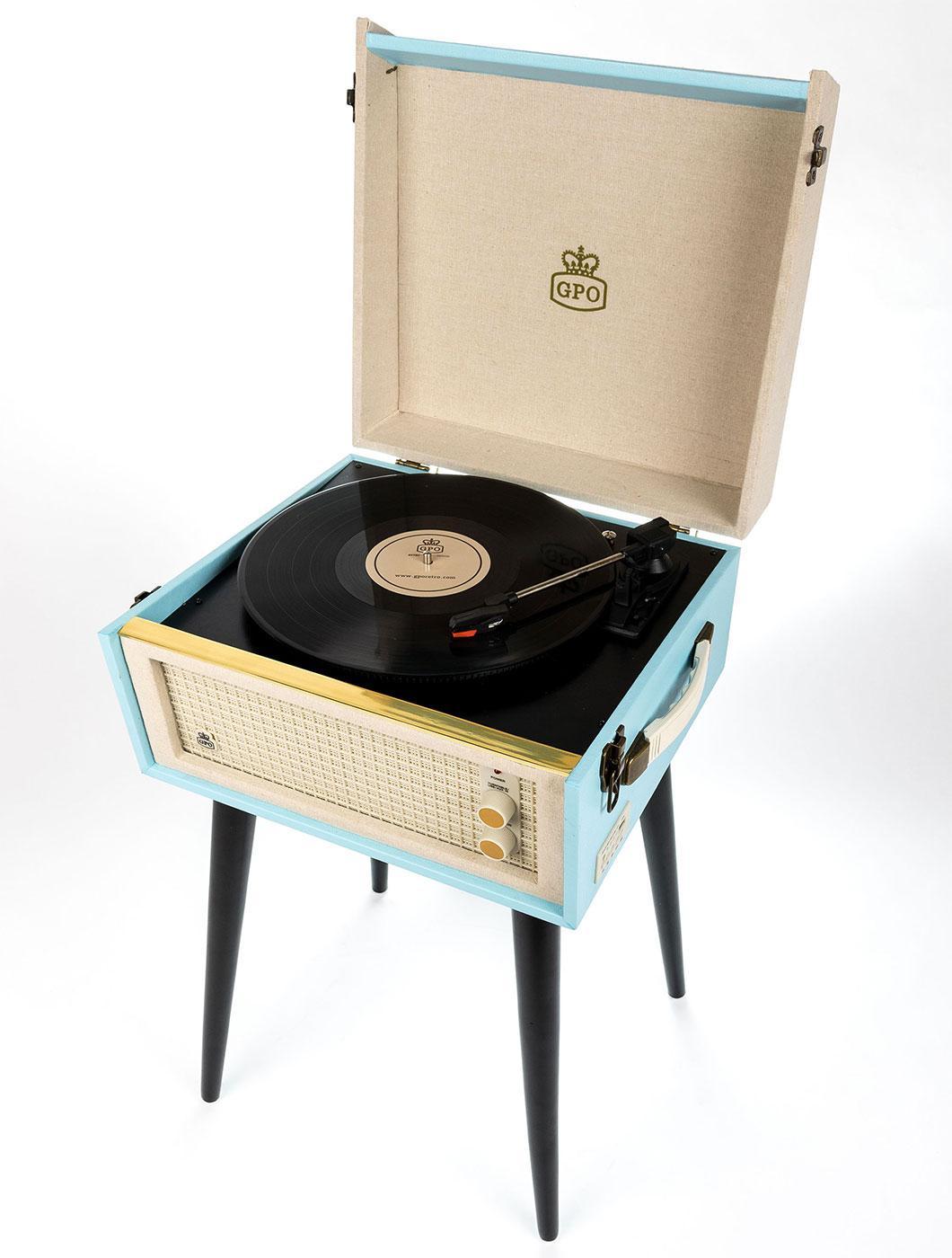 Bermuda GPO RETRO 1960s Mod Vintage Record Player
