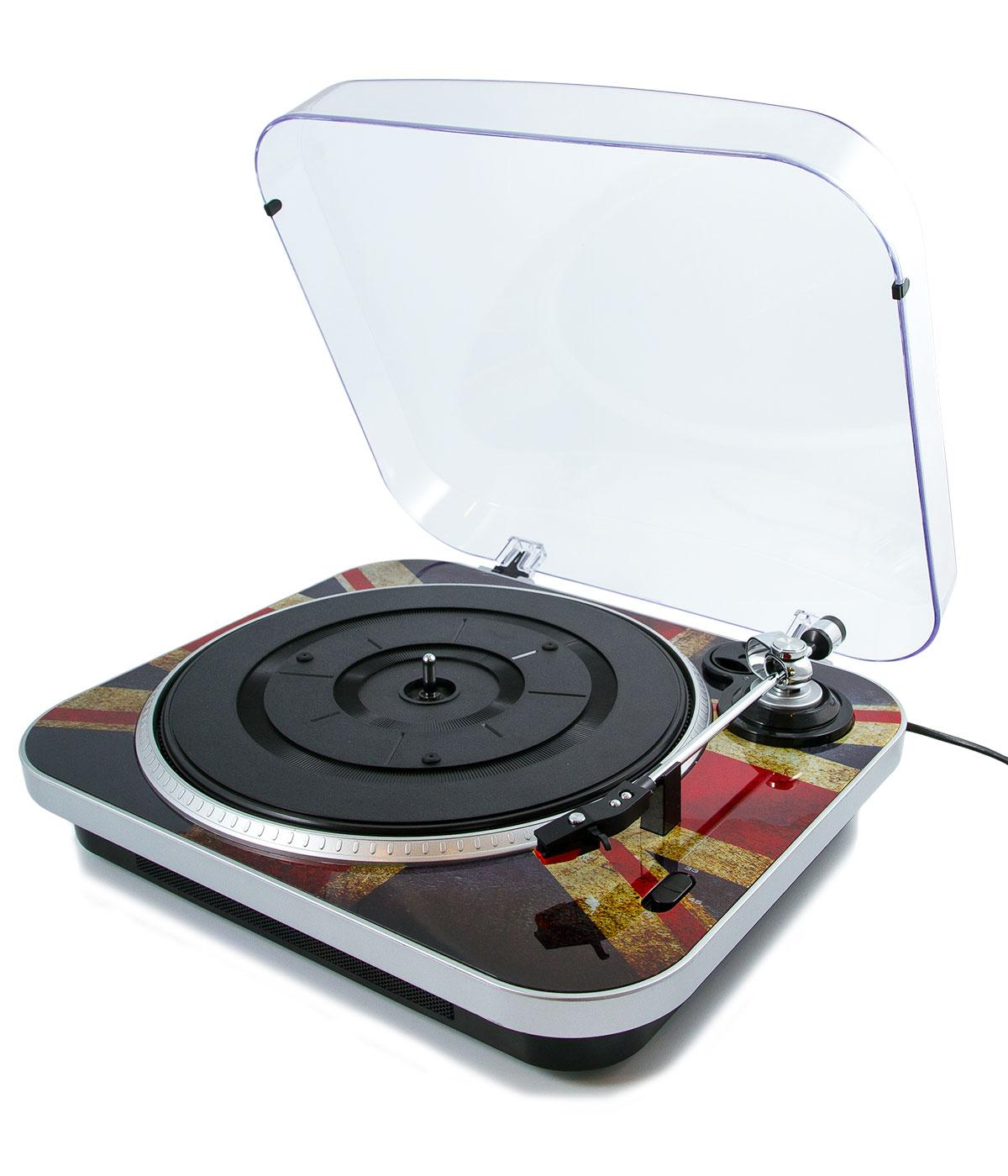 GPO RETRO 1960s Mod Jam Union Jack Record Player