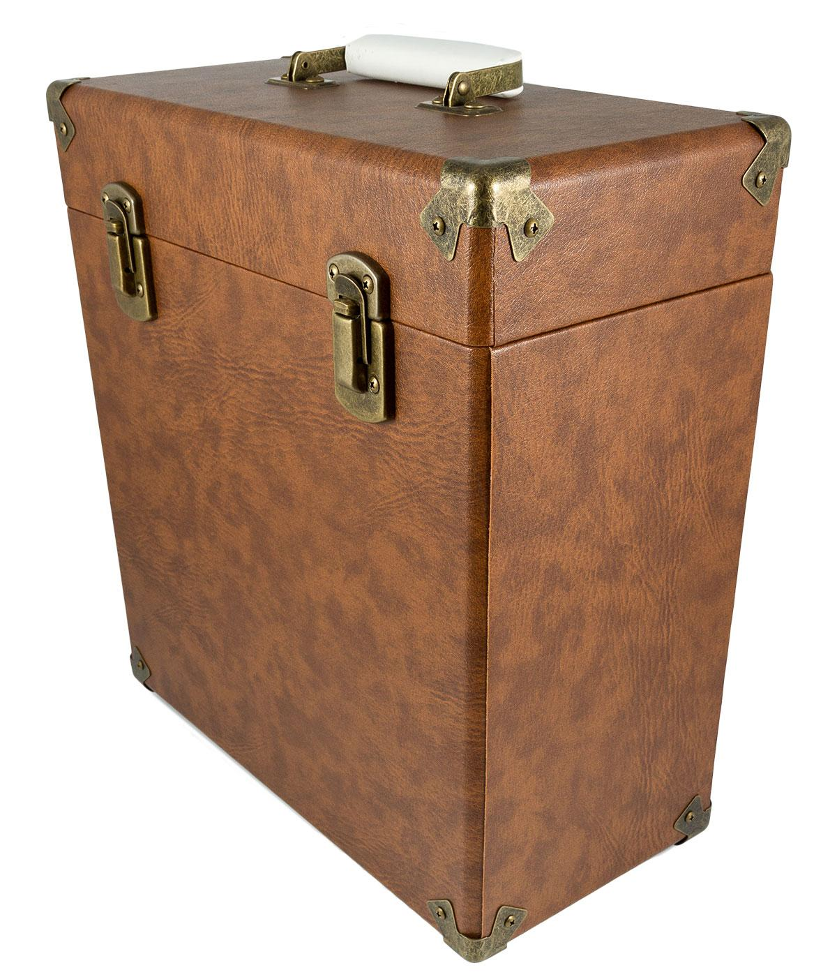 GPO Retro Vinyl Case | 60s Mod LP Record Box BROWN