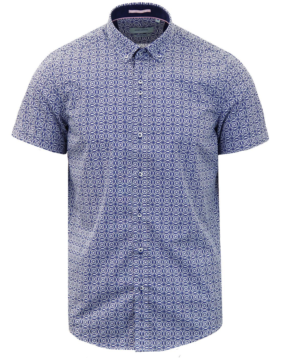 GUIDE LONDON Coin Mosaic Mod Short Sleeve Shirt