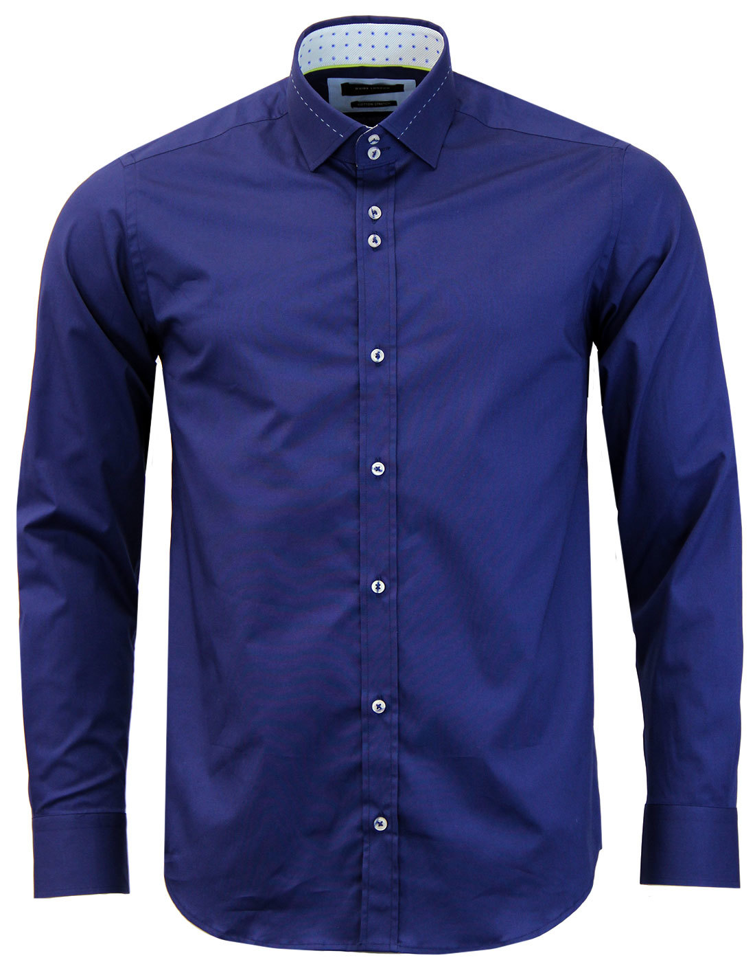 GUIDE LONDON Retro Mod Stitch Collar Smart Shirt N