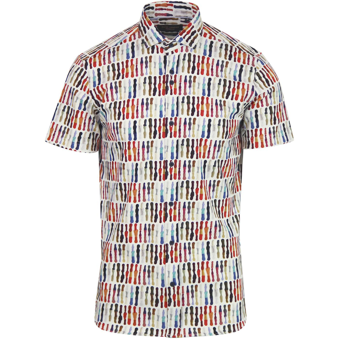 GUIDE LONDON 60s Mod Paint Palette Textured Shirt