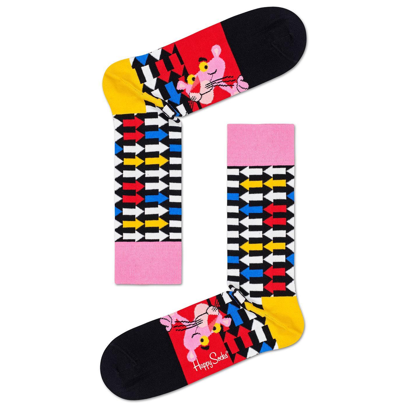+ HAPPY SOCKS x PINK PANTHER Jet Pink Retro Socks