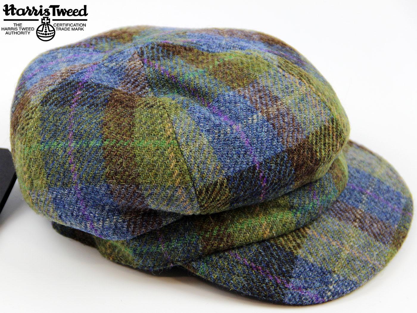 53b33d74a05 FAILSWORTH Harris Tweed Ladies Retro 60s Mod Check Hat Purple