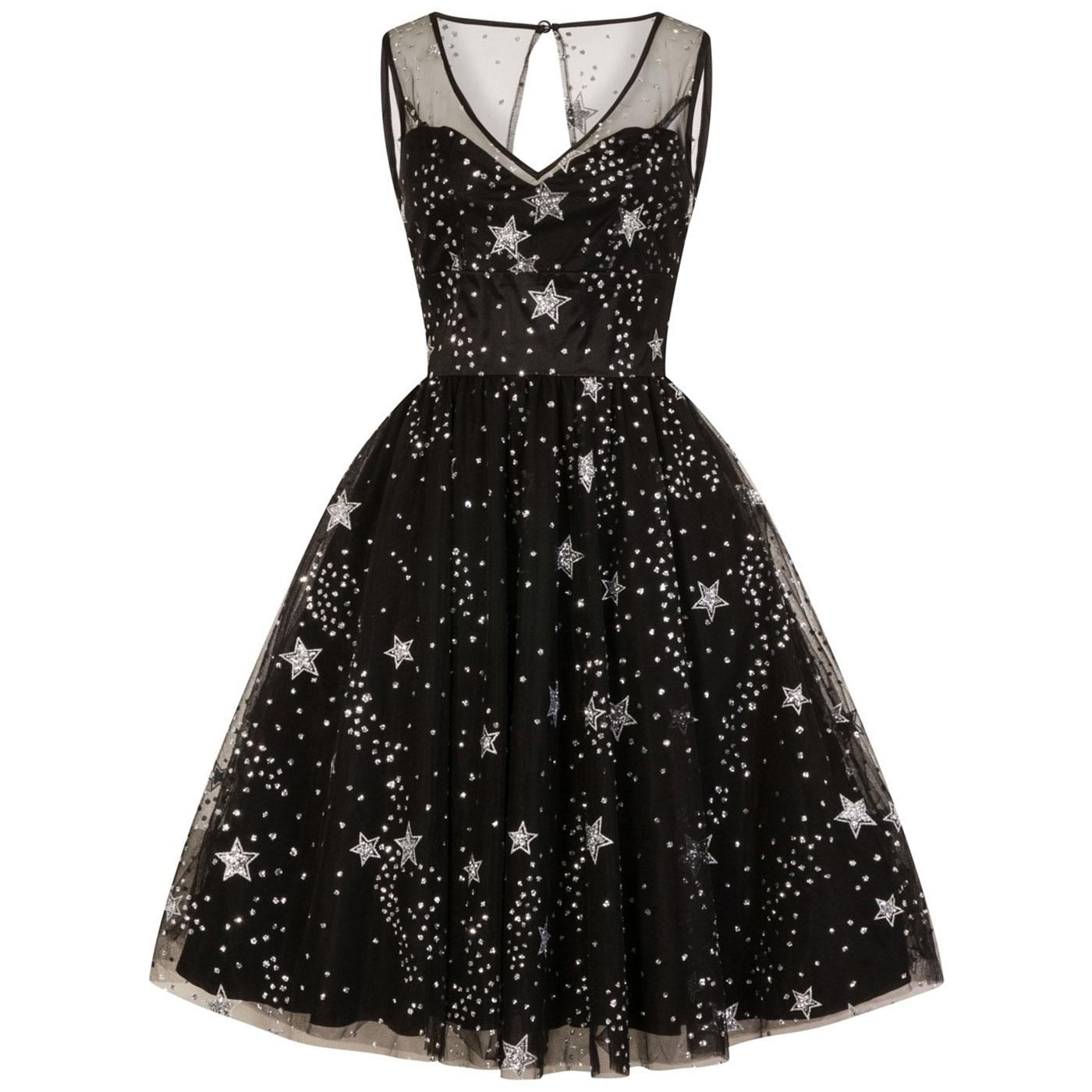 Cosmic Love HELL BUNNY Vintage Stars Tulle Dress