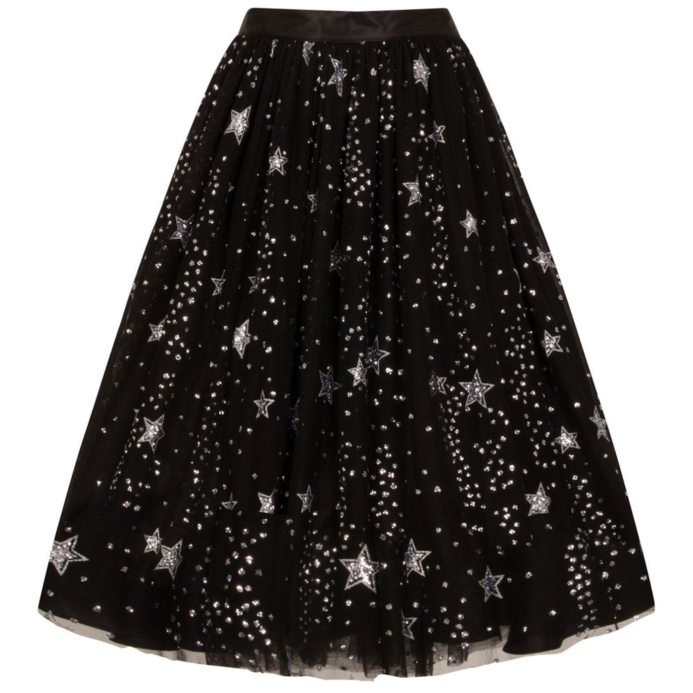 Cosmic Love HELL BUNNY Vintage Stars Tulle Skirt