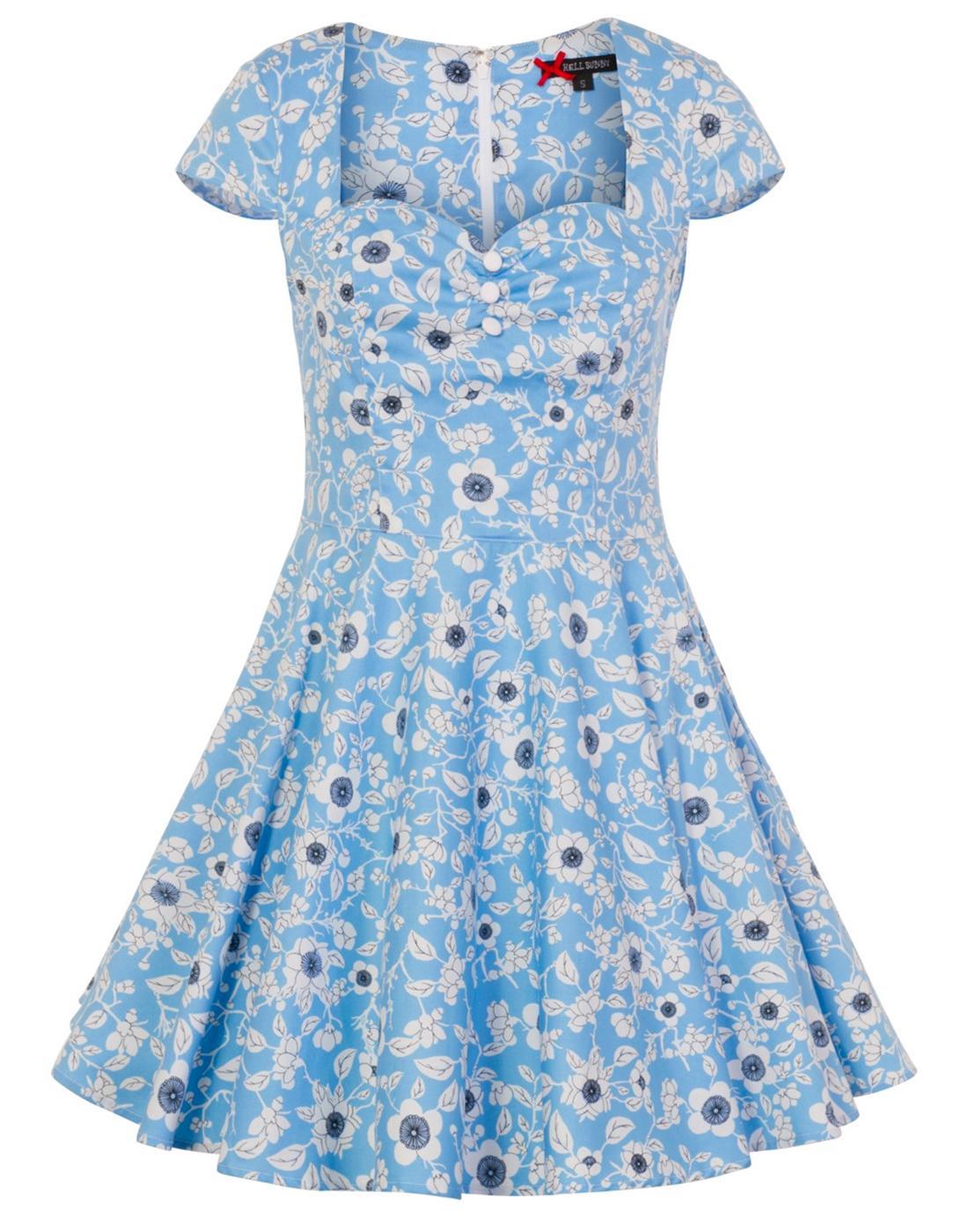 Daphne HELL BUNNY Retro 60s Daisy Summer Dress